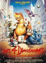 Affiche Les 4 Dinosaures et le Cirque magique