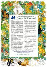 Couverture Déclaration universelle des droits de l'animal
