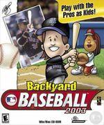 Jaquette Backyard Baseball 2003
