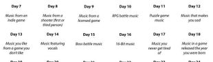 Cover 30 Day Video Game Music Challenge