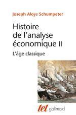 Couverture Histoire de l'analyse économique