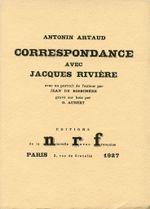 Couverture Correspondance avec Jacques Rivière