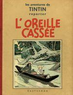 Couverture L'Oreille cassée - Les Aventures de Tintin, tome 6 (première version N&B)