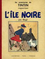 Couverture L'Île noire - Les Aventures de Tintin, tome 7 (première version N&B)