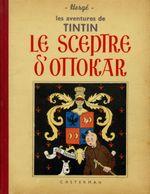 Couverture Le Sceptre d'Ottokar - Les Aventures de Tintin, tome 8 (première version N&B)