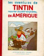 Couverture Tintin en Amérique - Les Aventures de Tintin, tome 3 (première version N&B)