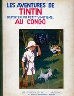 Couverture Tintin au Congo - Les Aventures de Tintin, tome 2 (première version N&B)