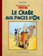 Couverture Le Crabe aux pinces d'or - Les Aventures de Tintin, tome 9 (première version N&B)