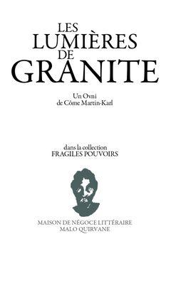 Couverture Les Lumières de granite