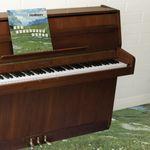 Pochette The Sophtware Slump ….. on a wooden piano