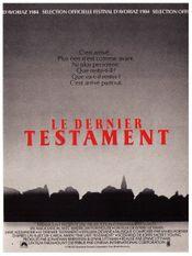Affiche Le Dernier Testament