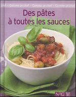 Couverture Des pâtes à toutes les sauces