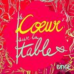 Affiche Le Coeur sur la table