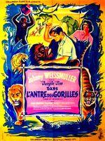 Affiche Jim la jungle dans l'antre des gorilles