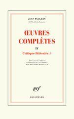 Couverture Œuvres complètes, tome IV