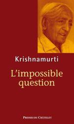 Couverture L'impossible question