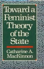Couverture Toward a Feminist Theory of the State