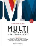 Couverture Le Multidictionnaire de la langue française