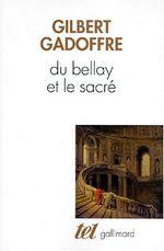 Couverture Du Bellay et le sacré