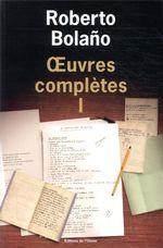 Couverture Œuvres complètes, tome 1