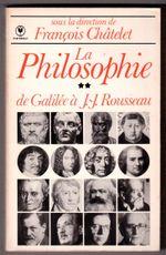 Couverture La Philosophie de Galilée à J.-J. Rousseau