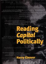 Couverture Reading Capital Politically
