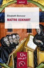 Couverture Que-sais-je : Maître Eckhart