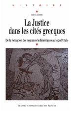 Couverture La justice dans les cités grecques