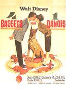 Affiche 4 Bassets pour 1 Danois